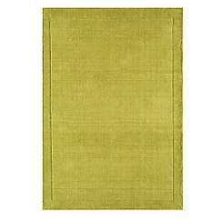 Debenhams - Lime green wool 'York' rug