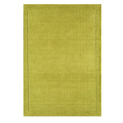 Debenhams - Lime green wool +York+ rug