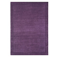 Debenhams - Purple wool 'York' rug