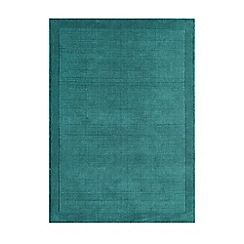Debenhams - Teal blue wool 'York' rug
