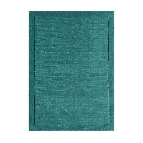Debenhams - Teal blue wool +York+ rug