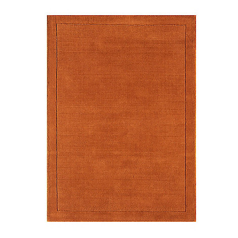 Debenhams - Terracotta wool 'York' rug