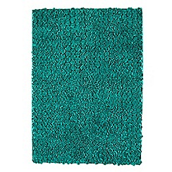 Debenhams - Blue 'Roses' rug