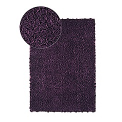 Debenhams - Purple 'Roses' rug