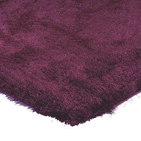 Debenhams - Plum +Whisper+ rug