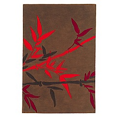 Debenhams - Red 'Harlequin Bamboo' rug