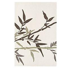 Debenhams - Beige 'Harlequin Bamboo' rug