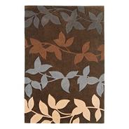 Chocolate 'Harlequin' vine rug