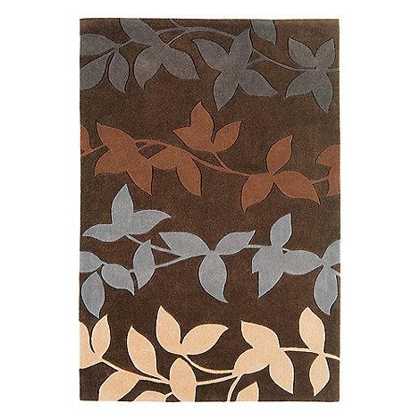 Debenhams - Chocolate brown 'Harlequin Vine' rug