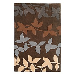 Debenhams - Chocolate brown 'Harlequin Vine' rug