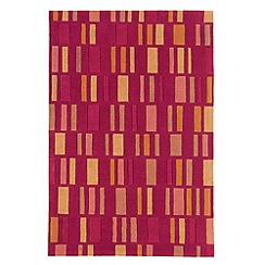 Debenhams - Terracotta 'Block' rug