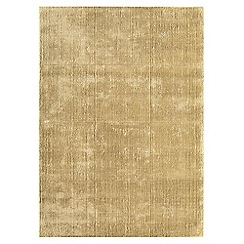 Debenhams - Gold coloured woollen 'Grosvenor' rug