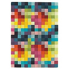 Debenhams - Multi-coloured wool 'Funk' rug