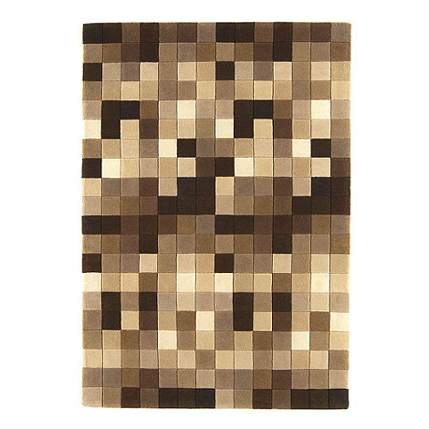 Debenhams - Brown wool 'Funk' rug