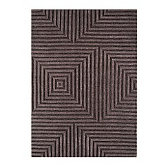Debenhams - Chocolate brown woollen 'Jazz' rug