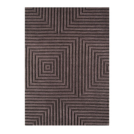 Debenhams - Chocolate brown woollen 'Jazz' rug