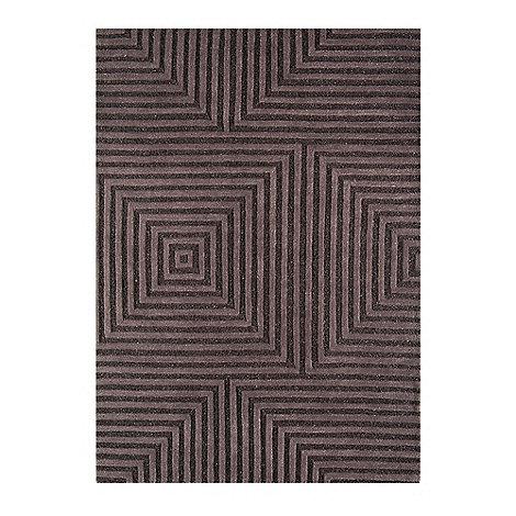 Debenhams - Chocolate brown woollen +Jazz+ rug