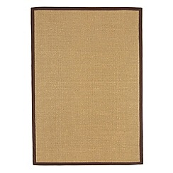 Debenhams - Chocolate brown 'Sisal' rug