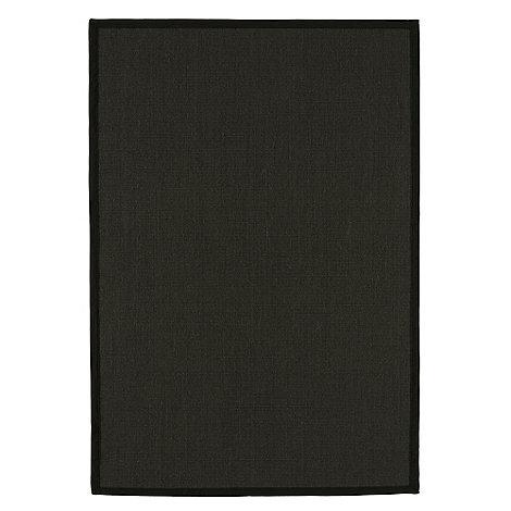 Debenhams - Black +Sisal+ rug