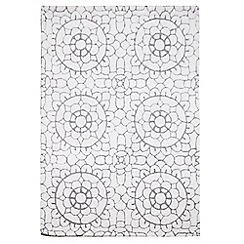 RJR.John Rocha - Cream wool 'Lace' rug
