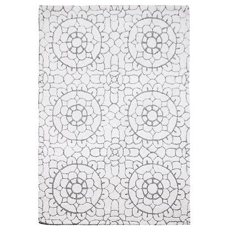 RJR.John Rocha - Cream wool +Lace+ rug