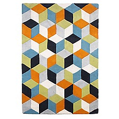 Ben de Lisi Home - Orange wool 'Rhombus' rug