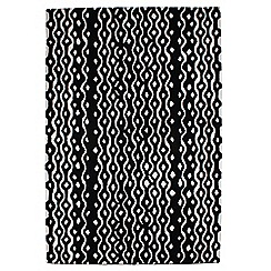 Betty Jackson.Black - Black wool 'Geometric' rug