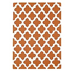 Debenhams - Terracotta wool 'Artisan' rug
