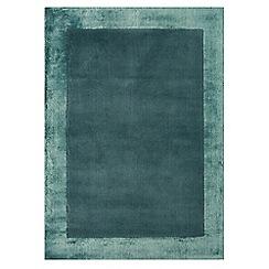 Debenhams - Turquoise woollen 'Ascot' rug