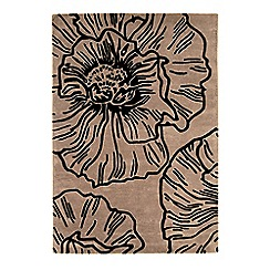 Debenhams - Beige wool 'Liberty' rug