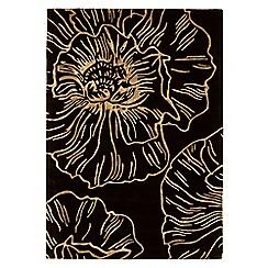 Debenhams - Black wool 'Liberty' rug