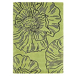 Debenhams - Green wool 'Liberty' rug