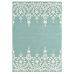 Debenhams - Blue wool 'Guild' rug