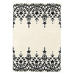 Debenhams - White wool 'Guild' rug