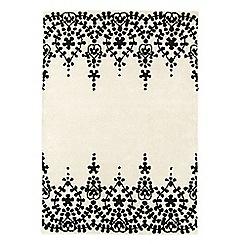 Debenhams - White wool 'Guild' rug