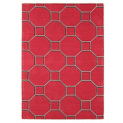 Debenhams - Red wool 'Cassin' rug