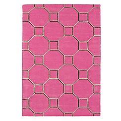 Debenhams - Pink wool 'Cassin' rug