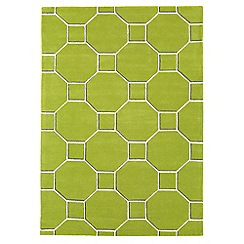 Debenhams - Green wool 'Cassin' rug
