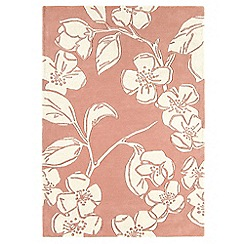 Debenhams - Pink wool 'Devore' rug