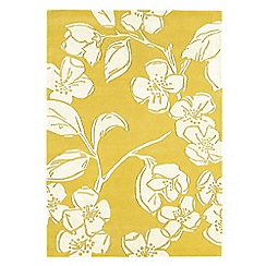 Debenhams - Yellow wool 'Devore' rug