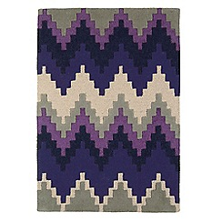 Debenhams - Purple wool 'Cuzzo' rug