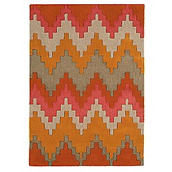 Debenhams - Orange wool 'Cuzzo' rug