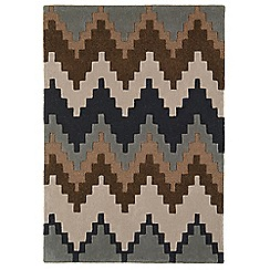 Debenhams - Brown wool 'Cuzzo' rug