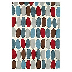Debenhams - Red and teal wool 'Sofia' rug