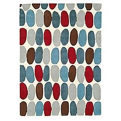 Debenhams - Red and teal wool 'Sofia' rug