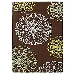 Debenhams - Brown wool 'Tangier' rug