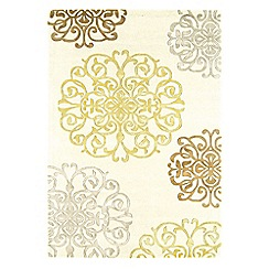 Debenhams - Cream wool 'Tangier' rug