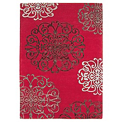 Debenhams - Red wool 'Tangier' rug