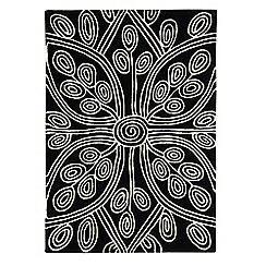 Debenhams - Black wool 'Kaya' rug