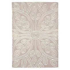 Debenhams - Beige wool 'Kaya' rug
